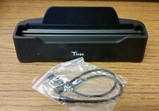 New Tivax Docking Station For HiRez7 Portable Television Boosted Speakers Blk