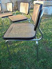 Design VINTAGE 50 6 Rares Chaises Bois laqué Cannées Chrome DLG Cesca M. Breuer