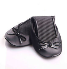 Foldable flats rollable ballet slippers footwear wedding jiffies red black S M L