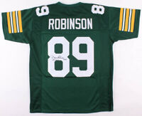 """Dave Robinson Signed Green Bay Packers Football Jersey Inscribed """"HOF 2013"""" COA"""