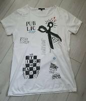 Tigha Herren  T-Shirt mit  Print weiß  Größe M