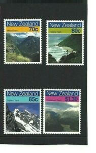 MINT 1988 NZ NEW ZEALAND SCENIC WALKWAYS STAMP SET