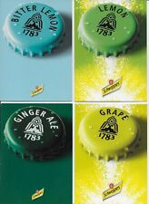 Schweppes advertising postcards - 5 different