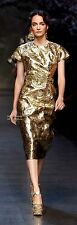 D&G Dolce Gabbana gold dress size 42/8 Nwt Spring/Summer collection 2014