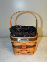 Longaberger 1993 Inaugural Basket Liner & Protector with handle