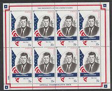 GB Locals - Staffa 3407 - 1982 US PRESIDENTS #35 JOHN F KENNEDY  sheet of 8 mnh