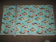 "PENQUINS COTTON   2 YARDS+ 5""  UNWASHED NICE"