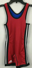 Adidas Red Blue Freestyle Greco Roman Wrestling Singlet Reversible YS Youth