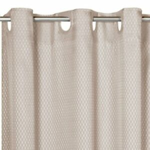 """EZ-ON® """"Grace"""" Jacquard Polyester Extra Long Shower Curtain in Grey"""