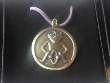 "Sheela Na Gig DR96  Made From English Pewter On 18"" Purple Cord Necklace"