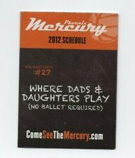 2012 PHEONIX MERCURY POCKET SCHEDULE (WNBA) (SKED)