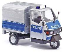 """Busch 60054 Scale 1:43 PIAGGIO APE '50 """"POLICE"""" #NEU in Ovp #"""