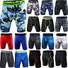 Mens Gym Sports Compression Shorts Pants Slim Tights Trousers Base Layer Running