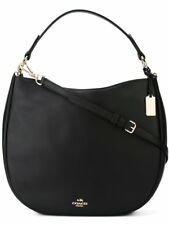 COACH 36026 NOMAD HOBO IN GLOVETANNED LEATHER BLACK