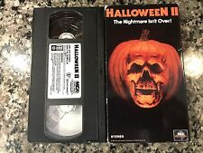 Halloween II 2 Vhs! Awesome 1981 Slasher! (See) Visiting Hours & Silent Rage