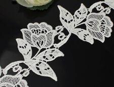 2 Yards Venise Lace Off White Rose Applique Trims Sew On Bridal Dress Costume
