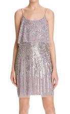 0c569e87 AIDAN MATTOX ~ Mauve Purple Mesh Sequins Popover Party Dress 8 NEW $395