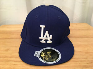 NEW ERA 59FIFTY Kid's MLB BLue LA DODGERS Fitted Embroidered Wool Cap Sz 6 1/2