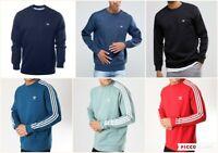 Adidas 3 Stripes Crew Sweat in Power Red, Green & Blue sweatshirt, jumper, retro
