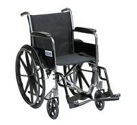Drive Medical SSP118FA-SF 18-inch Self Propel Silver Sport Wheelchair