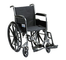 Drive Medical SSP118FA-SF 18-inch Self Propel Silver Sport Wheelchair