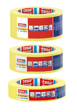 Tesa Professional Precision Masking Tape Yellow 3 Widths (3 Roll Pack)