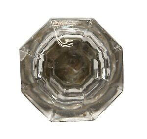 1.75 in. Vintage Glass Octagon Cabinet Knob