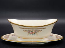 Lenox Versailles * GRAVY BOAT WITH ATTACHED UNDERPLATE * Gently Used Condition