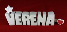 Beton, Steinguss Buchstaben 3D Deko Namen VERENA als Geschenk verpackt!