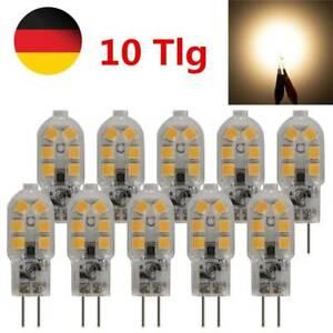 10x G4 LED 3W Lampe Stiftsockel Leuchtmittel Birne Dimmbar Warmweiß DC 12V DHL