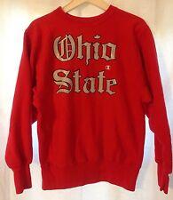 Vintage 1990's Ohio State Buckeyes Reverse Weave Red Champion Large Sweatshirt
