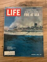 LIFE MAGAZINE January 3rd 1964 / The Lakonia Disaster Fire at Sea // Great ads