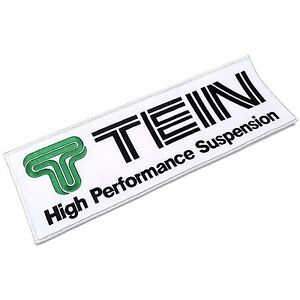 Tein Suspension Logo Large Jumbo Embroidered Patch Sew-On Official Goods JDM