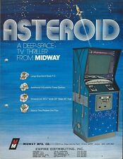 Midway arcade game 1973 = ASTEROID =  sales / promo flyer