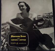 SHARONA ARON - SINGS ISRAELI SONGS 195? COLUMBIA 33CSX 1 ORIGINAL UK 1ST PRES LP