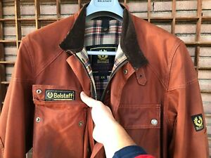 BELSTAFF Jacket Trialmaster Waxed Cotton Red/Brown Vintage Rare XXL