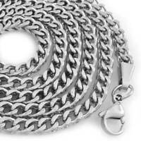 """STAINLESS STEEL FRANCO BOX CHAIN SILVER NECKLACE 26g//C4 30/""""x 3mm"""