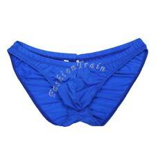 Sexy Men's Lingerie Briefs Ruched Butt Bikini Underwear Underpants Swimwear Blue