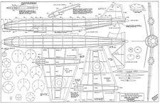 "Skyleada Canberra plan set free flight jetex model 21"" span"