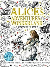 Adult Colouring Book ALICE IN WONDERLAND Theme Grown Up Aussie Stock Coloring