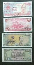 4 x banknote vietnam dictator Ho Chi Minh 500, 1000 Dong elephant UMC