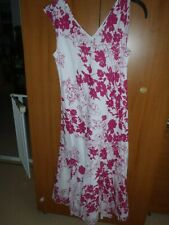 Ladies sleeveless summer dress by pomodoro 12 Pink/white floral