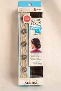 "Scunci Hollywood Roll Hairband ""U Got This"" Rhinestone Rollable Hair Band 1 Pc"