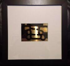 CHILLIDA - Original screenprint: Antzo III (1985) - copper card with frame RARE