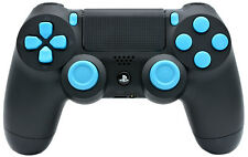 BLACK/LIGHT BLUE PS4 RAPID FIRE MODDED CONTROLLER COD BO3 IW QUICK SCOPE +more