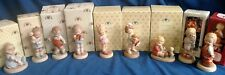 9 Mabel Lucie Attwell Figurines lot- Wrapped up in Love, Hang onto Your Luck +