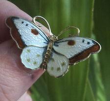 Norwegian Sterling Silver Enamel Butterfly Brooch - Hroar Prydz Norway
