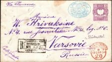PERU, 1894. Reg Cover H&G B9, 104, Arequipa - Varshava, Poland