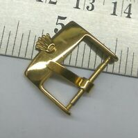 VINTAGE ROLEX WATCH 16MM GOLD PLATED BUCKLE FOR PARTS USED FOR WATCHMAKERS