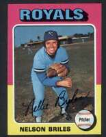 1975 Topps #495 Nelson Briles NM/NM+ Royals 67138